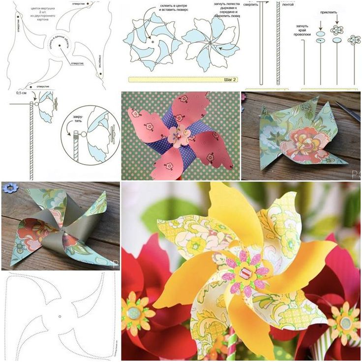 How to make Paper Windmills step by step DIY tutorial instructions, How to, how to make, step by step, picture tutorials, diy instructions, craft, do it yourself