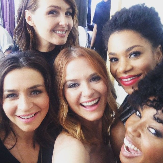 Caterina Scorsone, Camilla Luddington, Sarah Drew, Kelly McCreary, and Jerrika Hinton