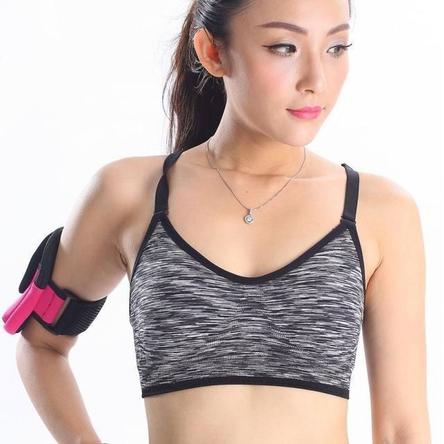 e71555fc0 Women Fitness Yoga Sports Bra For Running Gym Padded Wire Free Shake Proof  Underwear Push Up