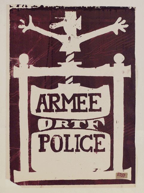 Arm%c3%a9e+ORTF+Police%2c+Unknown+Artist%2c+Paris%2c+1968