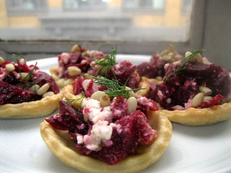 Roast Beetroot Tartlets with Marinated Feta