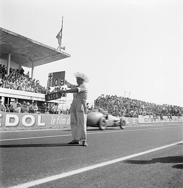 The Acf Automobile Grand Prix Of France In Reims In 1954 Amédée GORDINI
