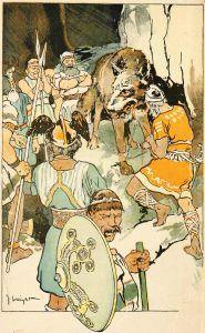 """The Binding of Fenrir"" (1908) by George Wright. Wikimedia."
