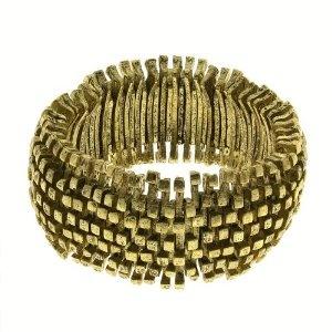 Bracelet design doré - Bijou de créateur indien fait main: ShalinCraft: Amazon.fr: Bijoux