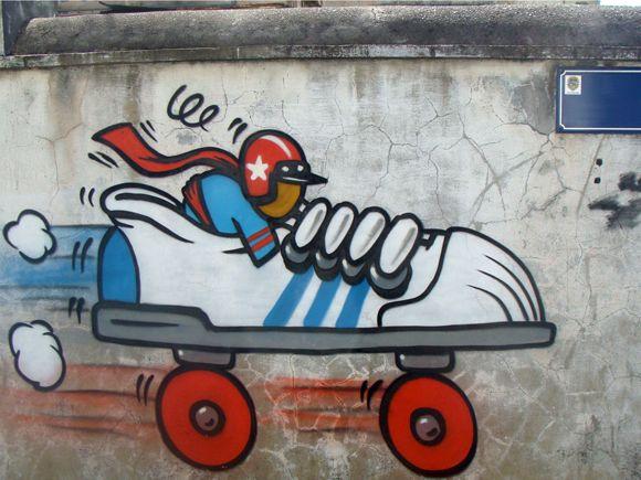 Nombreuses scènes de street art impressionnantes