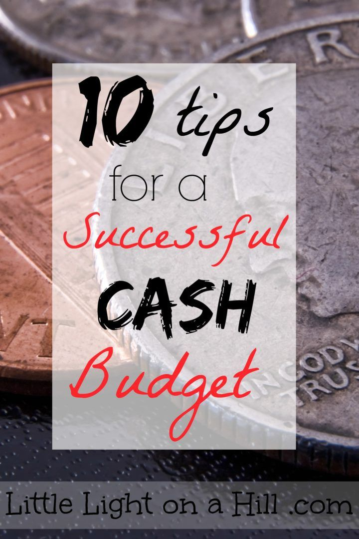 Sticking to a cash budget doesn't have to be hard. Here are ten tips to help you set and stick to a successful cash budget!