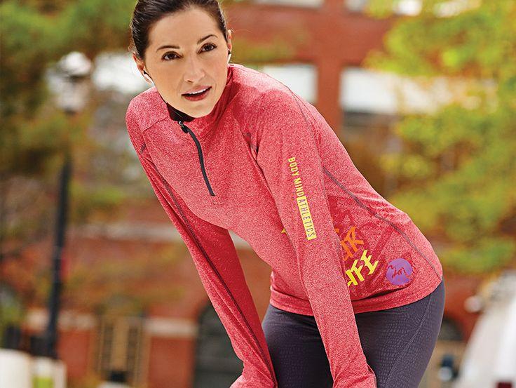 (W) TAZA Knit Quarter Zip Trimark Sportswear Group