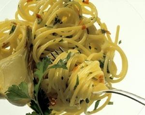 Uno spaghetto aglio e olio a Le Terme del Colosseo. Qualcosa di particolare..