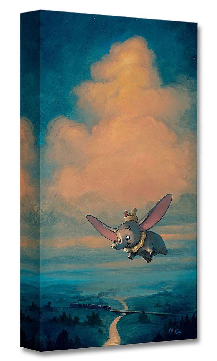 Dumbo - The Joy of Flight - Gallery Wrapped - Rob Kaz - World-Wide-Art.com - #disneyfineart #robkaz #disneytreasuresoncanvas #gallerywrapped #dumbo