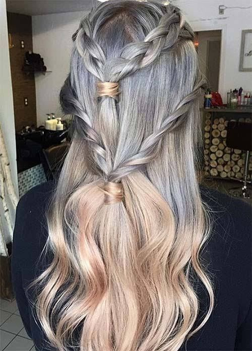 75 Ombre Hair Color For Grey Silver Hair Beauty Pinterest
