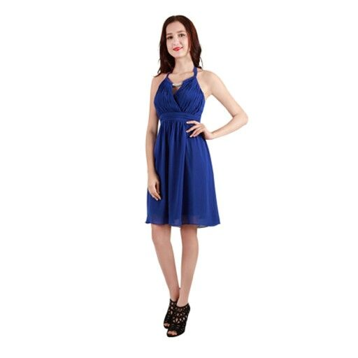 Halter neck style, gorgeous colour, but there are other colours too
