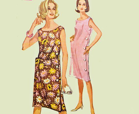 Vintage 60s Dress Pattern 1960s Vintage Sewing by ScarlettsVault
