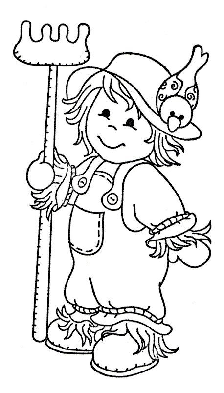 321 best images about clipart on pinterest for Coloring pages scarecrow