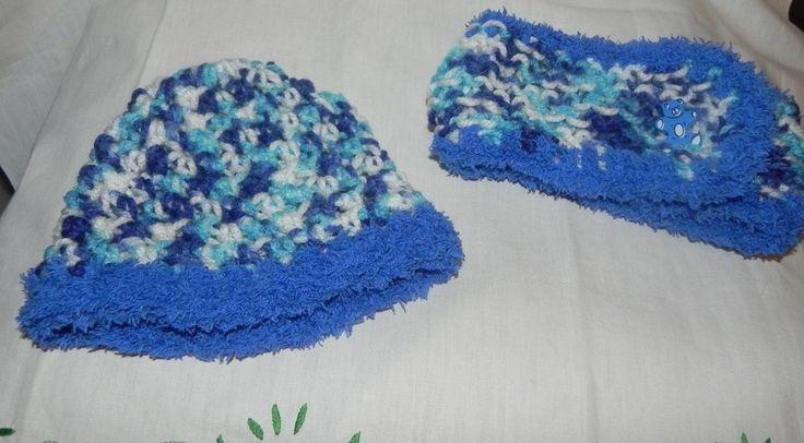 Scaldacollo e cappellino bambini unisex misto lana fatto a mano , by Nuvola rossa, 11,50 € su misshobby.com
