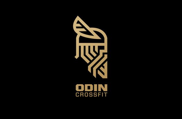 Branding and identity for a start-up cross fit box. Odin Crossfit ... Ungodly strength!