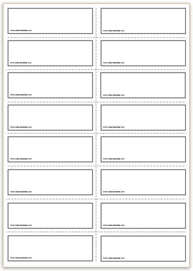 Free Printable Card Templates Free Printable Flash Cards Template In 2020 Flash Card Template Vocabulary Flash Cards Free Printable Flash Cards