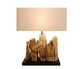 Lampada da tavolo in legno e tessuto Wild - H 60 cm