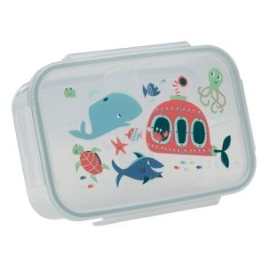 $6.99 Good Lunch Box 3 Compartment Divided Lunch Container Deep Sea