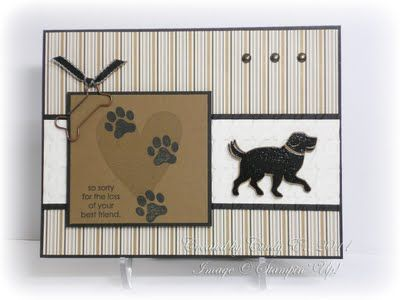 """by Cindy Elam **** Stamp set: SU """"D is for Dog"""", retired."""