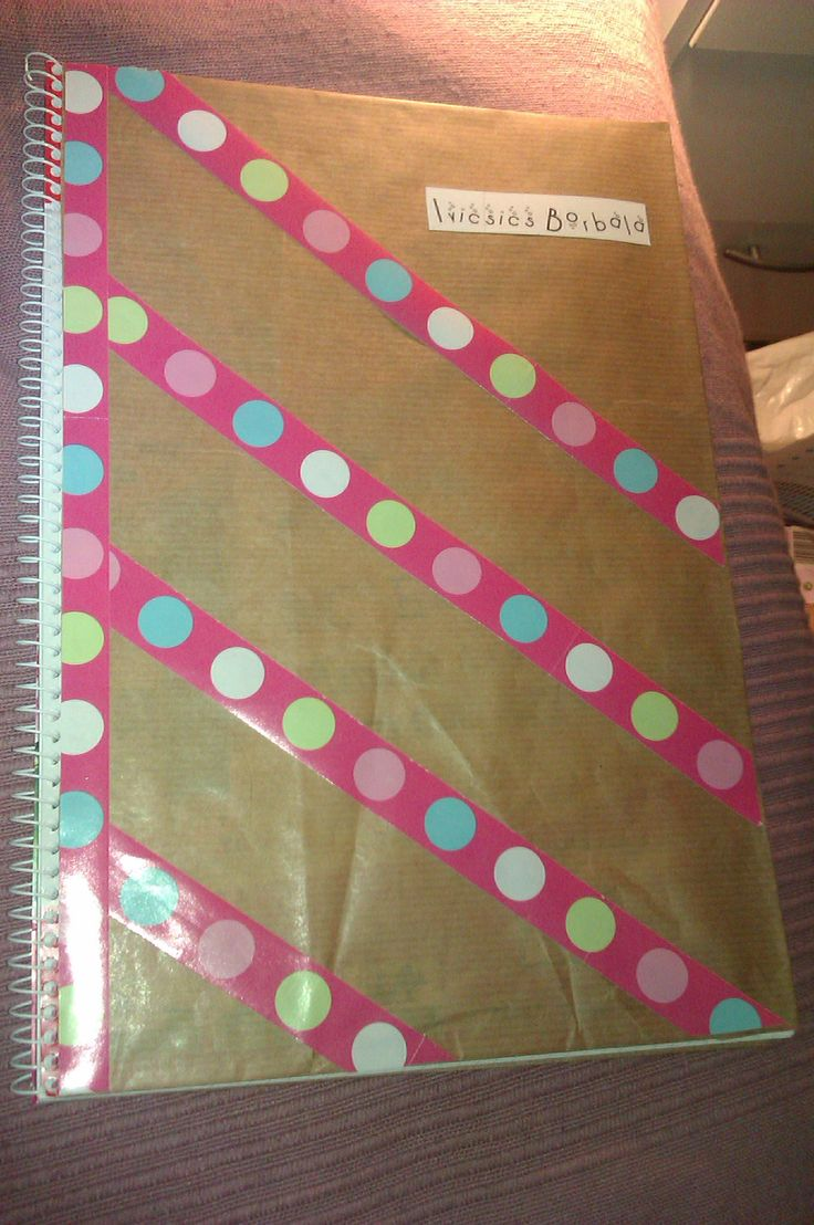 Get ready for school, and wrap in some cheap notebook (front)