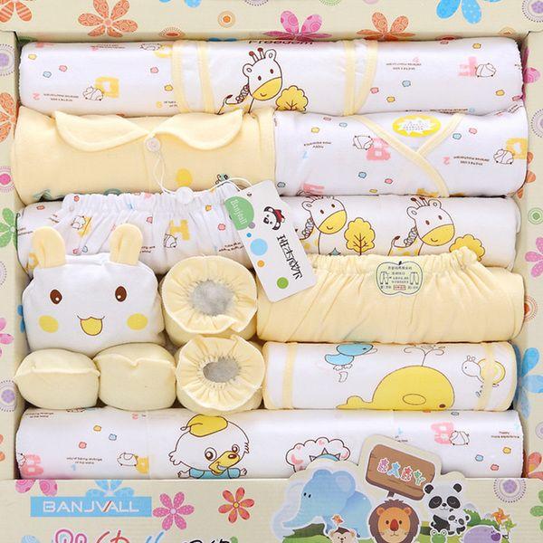 Нижнее белье хлопка одежды младенца 0-3 месяцев новорожденных подарочные наборы новорожденного родился четыре сезона носить