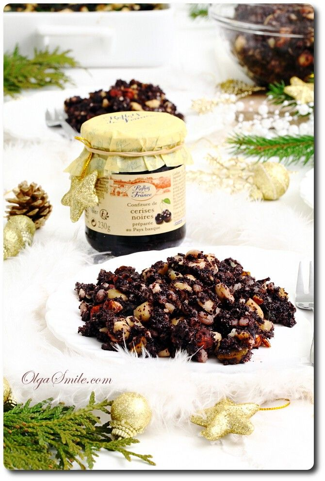 Kutia (Poppyseed spread) with cherry jam Reflets de France