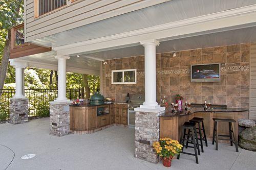 Gutter System Under A Screen Porch Outdoor Ktichen How To