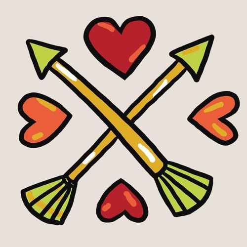 Spread the love tattoo - set of 2!