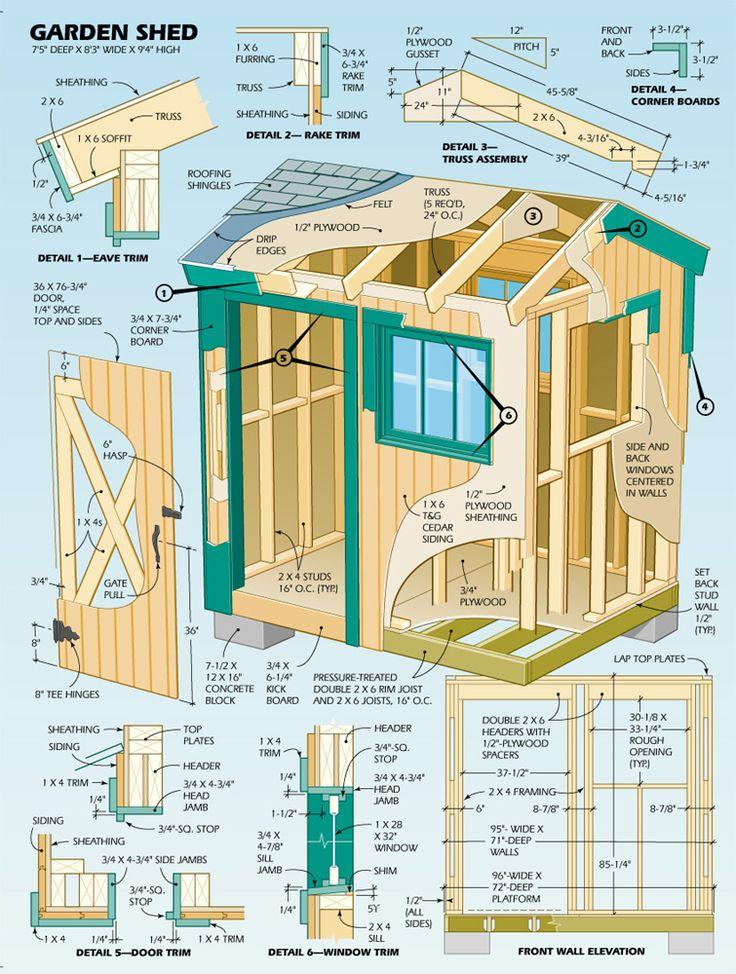 DIY Shed | Click on link for plans. (Illustration by Eugene Thompson)