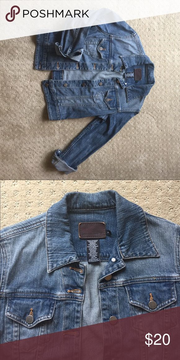 Calvin Klein Cropped Jean jacket Calvin Klein cropped Jean jacket.  Great condition! Calvin Klein Jeans Jackets & Coats Jean Jackets