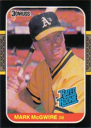 Mark Mcgwire Rookie Card Rated Rookie Card Mark Mcgwire