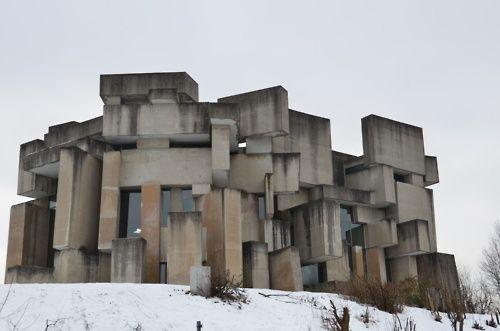 Fritz wotrubadie kirche zur heiligsten dreifaltigkeitwien for Architecture brutaliste