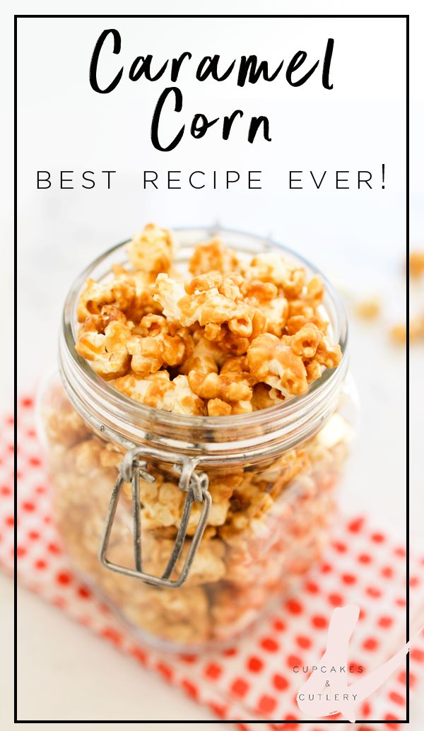 This is the best, easy recipe for homemade Caramel Corn. EVER! The oven makes it super crunchy!!! Your family will gobble this up!