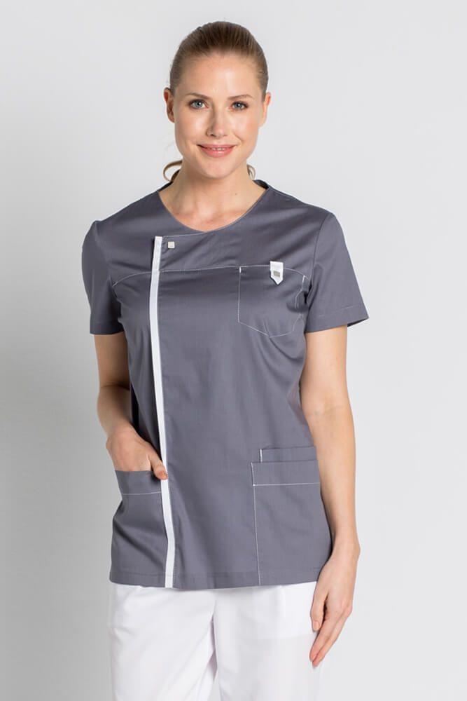 Tunique médicale Moderne Look grise