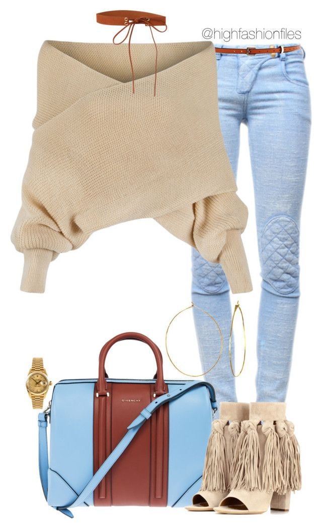Winter by highfashionfiles on Polyvore featuring polyvore fashion style WithChic Balmain Chloé Givenchy Rolex Phyllis + Rosie Meredith Wendell clothing