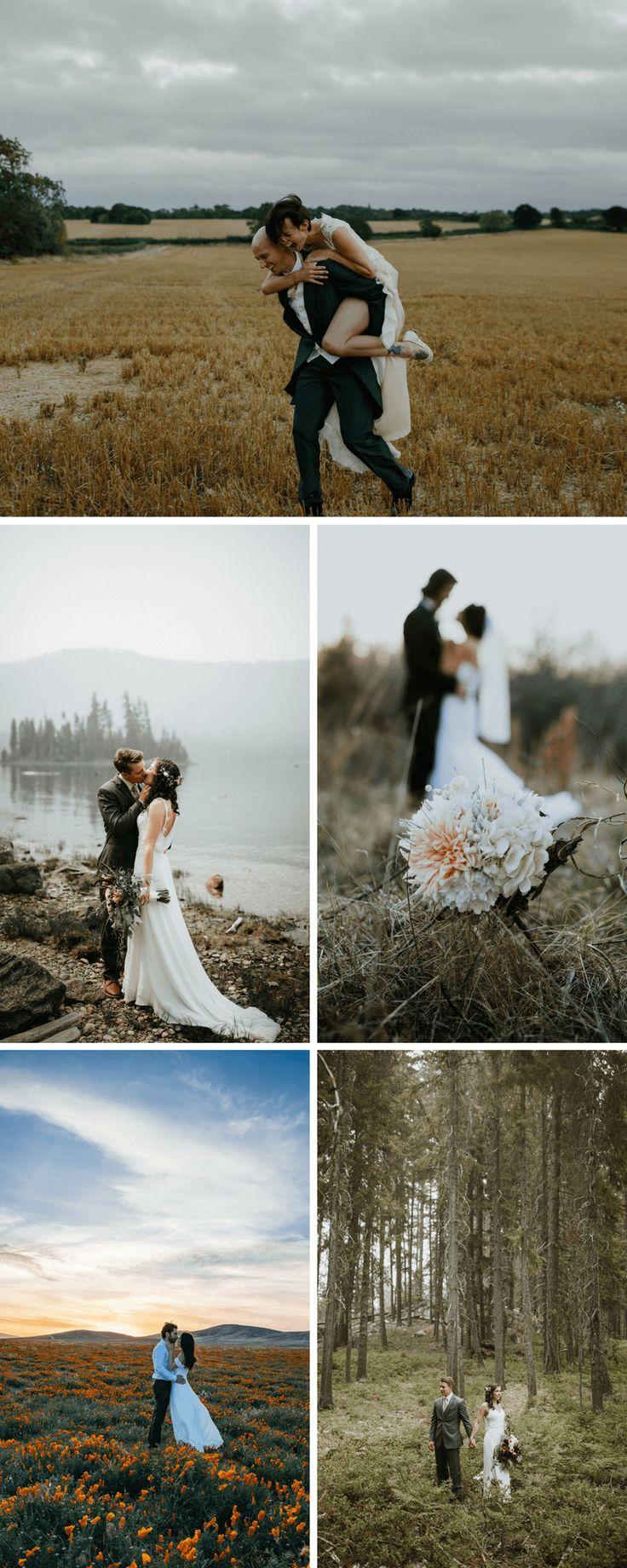 50 originelle Hochzeitsfoto-Ideen für das Brautpaarshooting – Hochzeitskiste