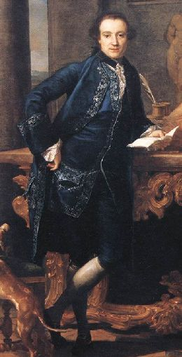 Rococó: Men generally wore different variations of the habit à la française: a coat, waistcoat, and breeches.  The waistcoat was the most decorative piece, usually lavishly embroidered or displaying patterned fabrics.  Lace jabots were still worn tied around the neck.  Breeches usually stopped at the knee, with white stockings worn underneath and heeled shoes, which usually had large square buckles.  Coats were worn closer to the body and were not as skirt-like as during the Baroque era.