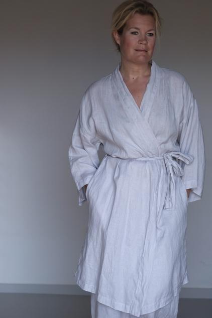 cec11ed970 CAARIA.COM Light linen kimono robe. Natural home   casual wear ...