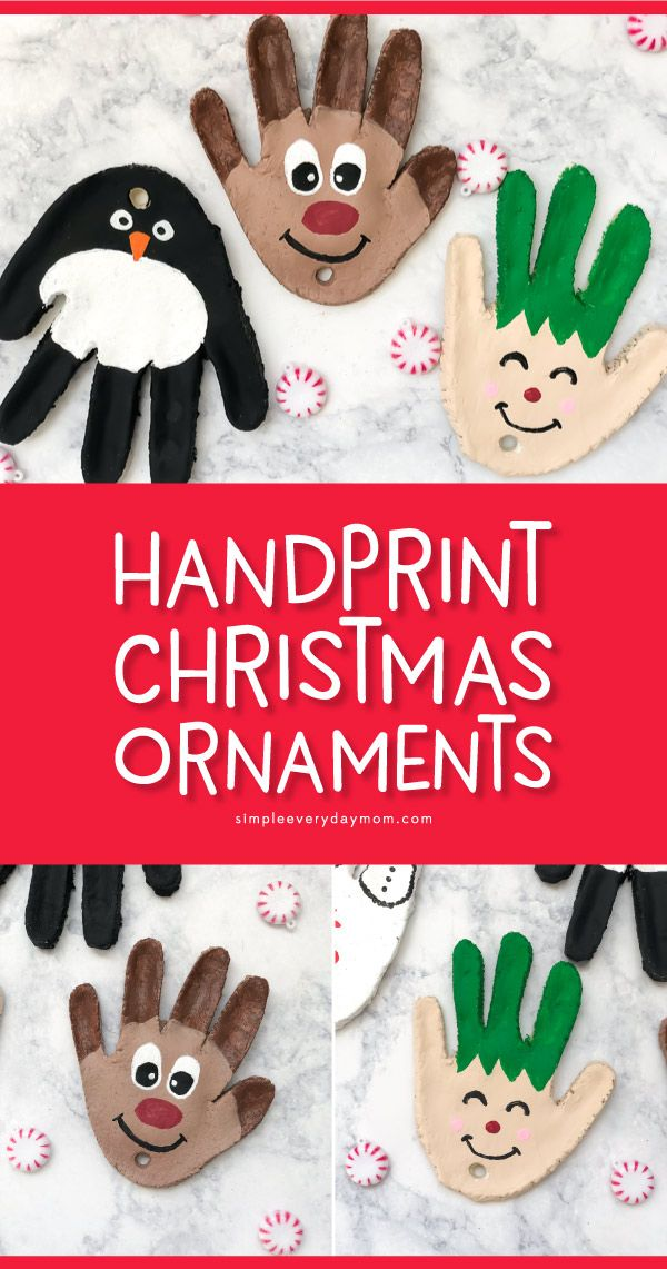 4 Adorable Salt Dough Handprint Ornaments You'll Want To Make This Christmas
