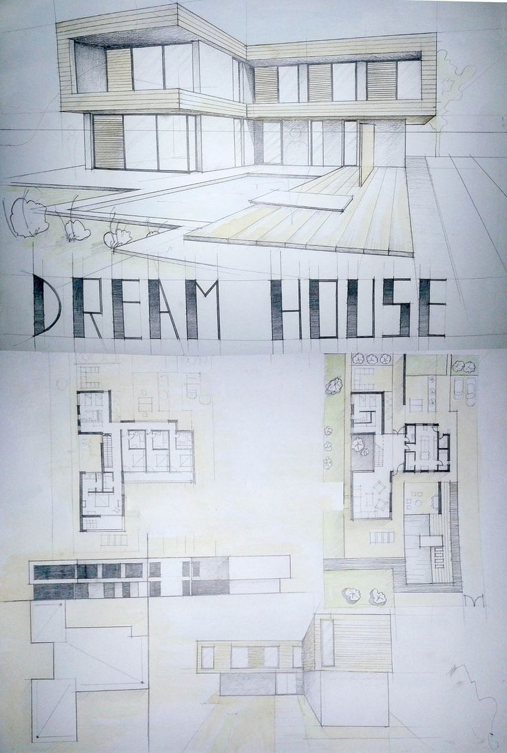 Modern House Drawing Student Daniel Brown