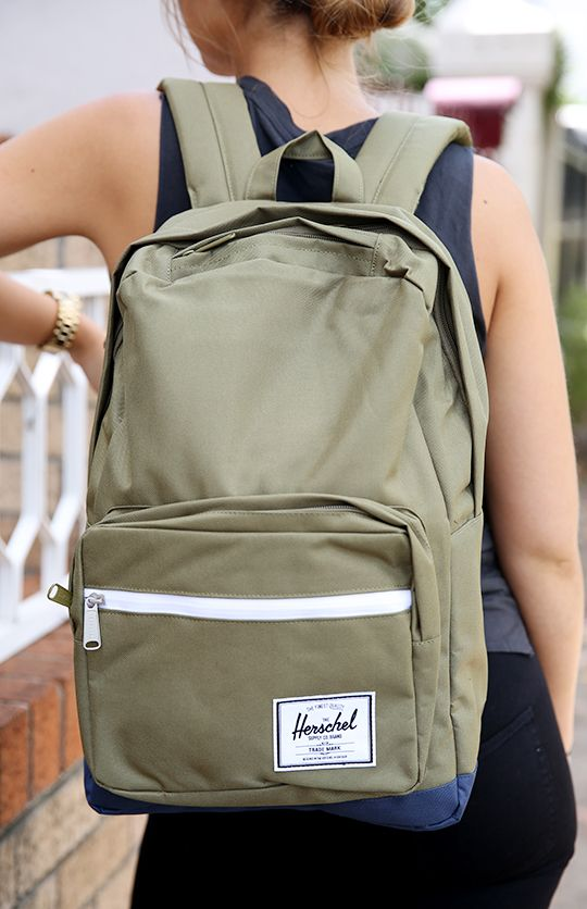 "Herschel - Pop Quiz 15"" Laptop Backpack - Army/Navy Rubber from Peppermayo.com"