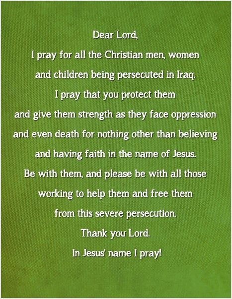 URGENT!!! Pray for persecuted christians in Iraq. PLEASE,PLEASE...PIN IT ON!