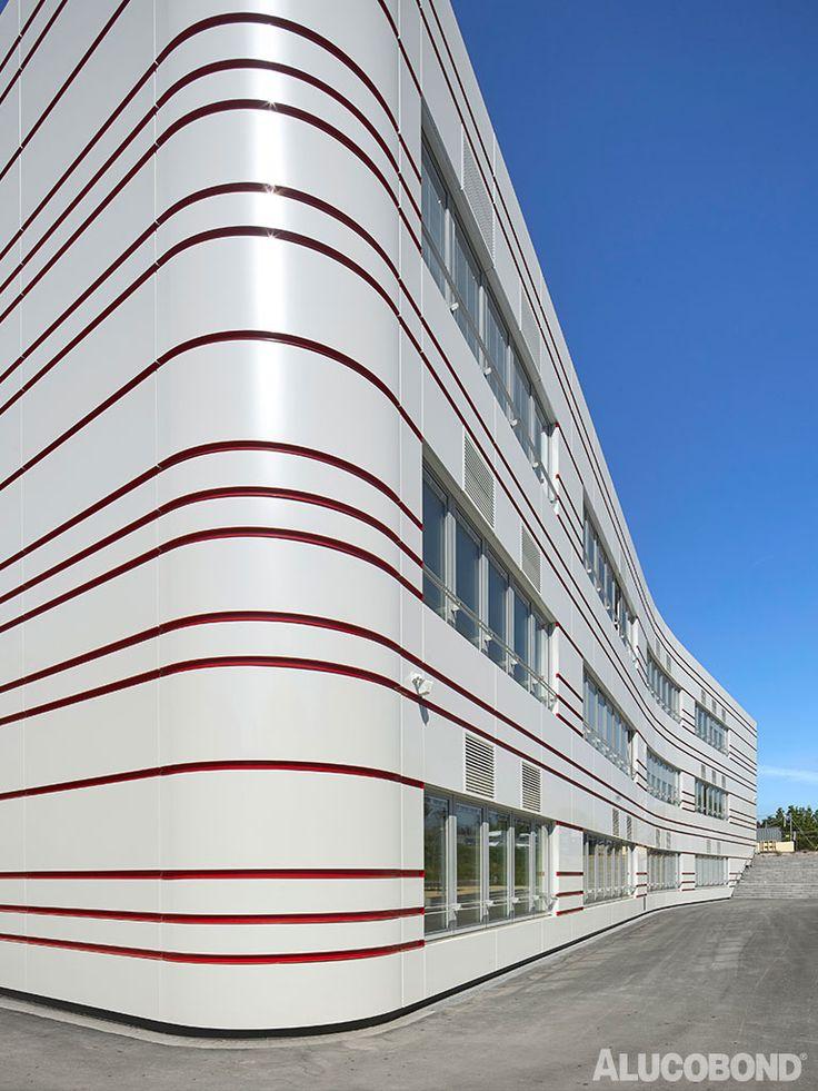 #facade #design in white & red at Johann-Schöner School #facadefascination with #alucobond photo: gerhard hagen