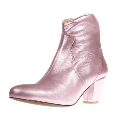 Stiefelette Claire Cupido; www.onyva.ch / #stylefashionboots #cowboyboots #boots #fashionboots #pink #spacecowboy #80s #80sfashion #stiefelette #shoes #disco #zurich #style #glam #glamrock #silver