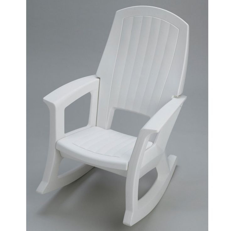 Semco Recycled Plastic Rocking Chair White - SEMW