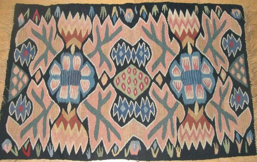 Antique Swedish Flemish Weaving Tapestry Abstract Design Big and RARE | eBay