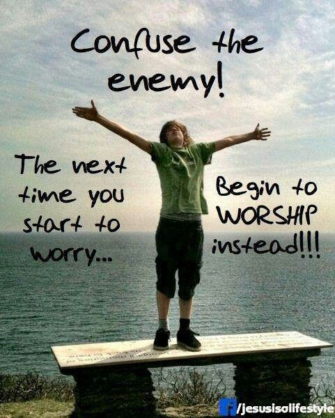 Worshipping now, worship unlocks blessing. Praise your way out and into an outpouring of his love. The answer to depression or unhappiness, God is always the answer. - Steven Valentine