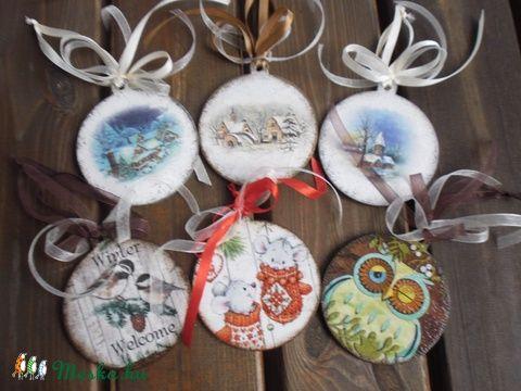 Karácsonyi díszek,karácsonyfadísz, Dekoráció, Karácsonyi, adventi apróságok, Karácsonyfadísz, Karácsonyi dekoráció, Meska