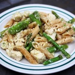 Lemon Asparagus Pasta--best pasta ever, although using penne or tube pasta means the asparagus is going to get stuck in there.