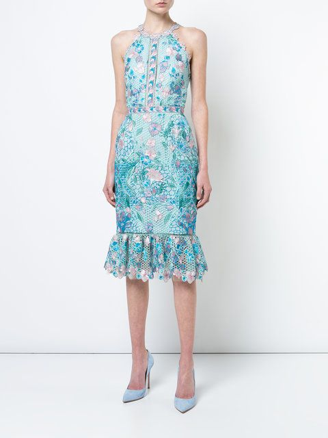 0630e0ca24b Marchesa Notte fitted lace flower dress   Dresses   Dresses, Flower ...